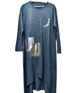 Γυναικείο μπλουζοφόρεμα  w-4