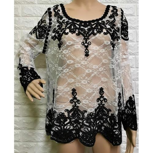 236db1ed7d9f Γυναικεία μπλούζα δαντέλα LA-232