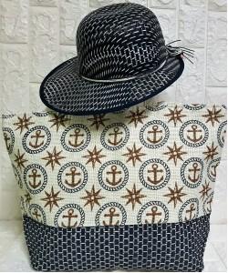 Τσάντα θαλάσσης σετ με καπέλο P-380