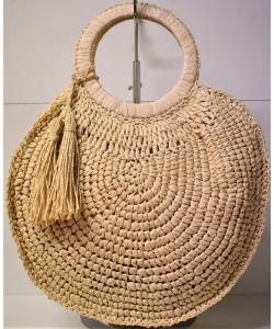 Ψάθινη γυναικεία τσάντα Ρ-5518