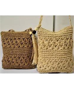 Ψάθινη γυναικεία τσάντα Ρ-529